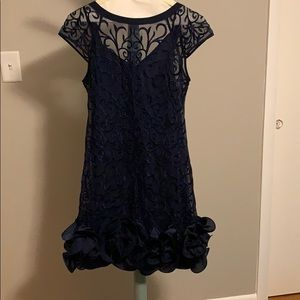 Jessica Simpson navy cocktail dress
